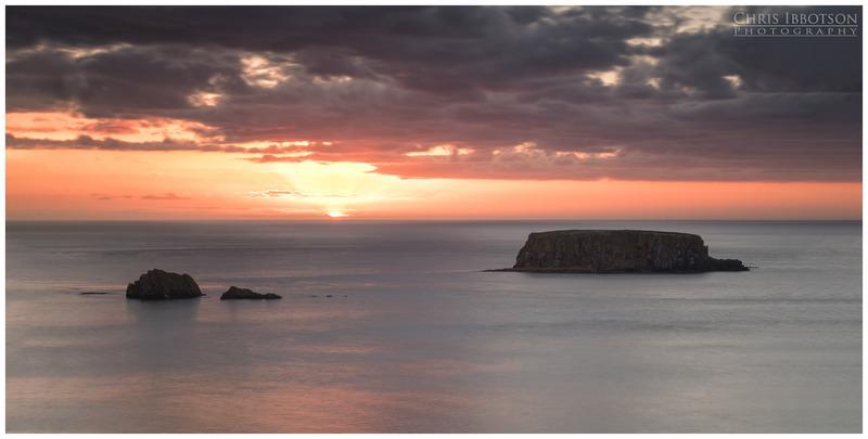 Sunset at Sheep Island, Ballintoy