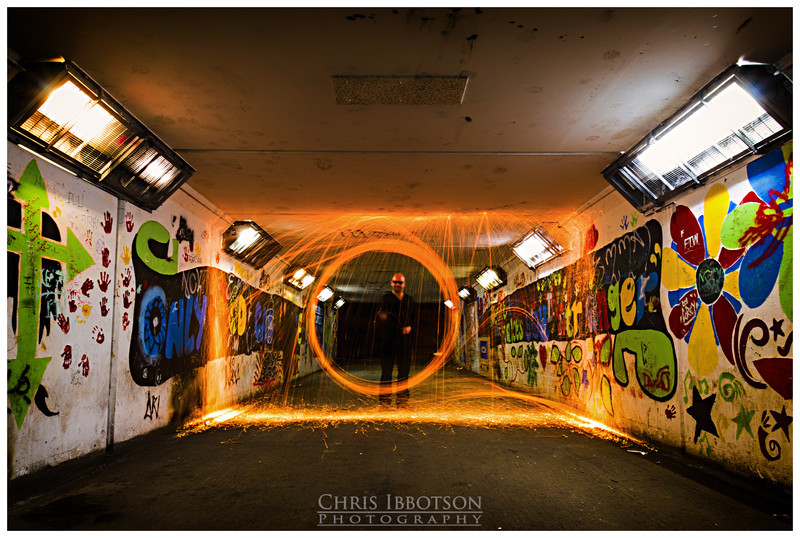 Playing with Fire - wire wool photography