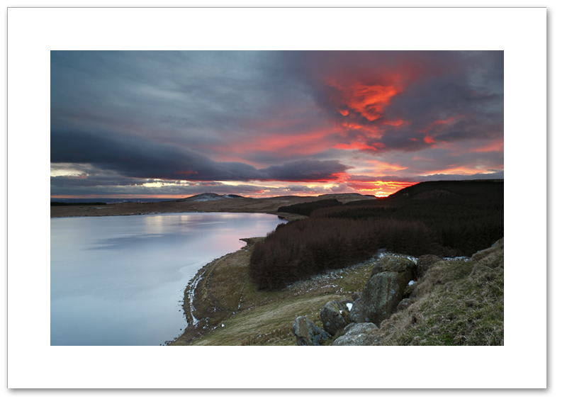 Red sky at night, Loch Glow, Cleish Hills, Perthshire