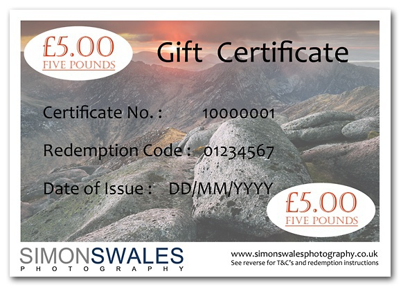 £5.00 Gift Certificate