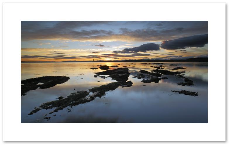 Golden sunset, Torry Bay, Fife