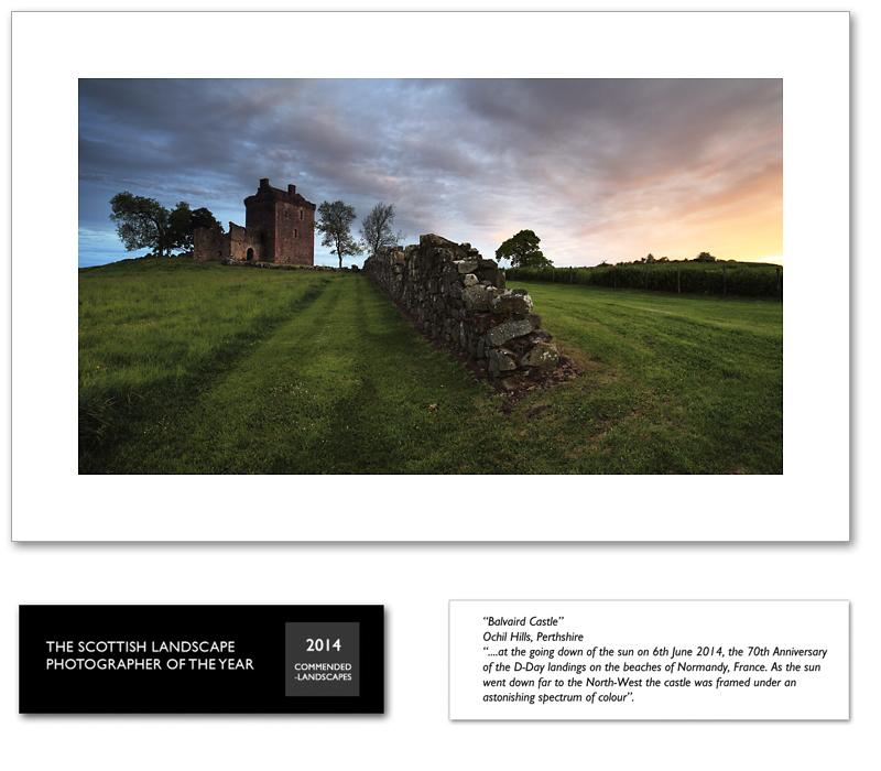 Balvaird Castle Sunset, Ochil Hills, Perthshire