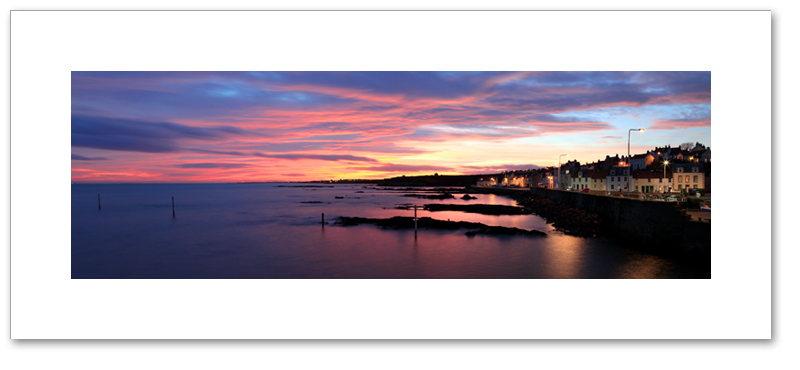 Sunset over the Firth of Forth, Pittenweem, East Neuk, Fife