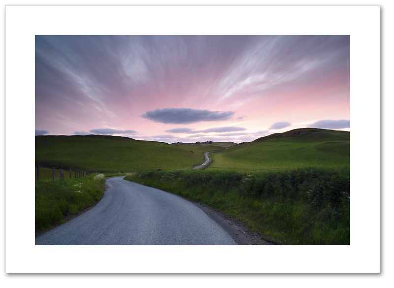 The long and winding road, Ochil Hills, Perthshire
