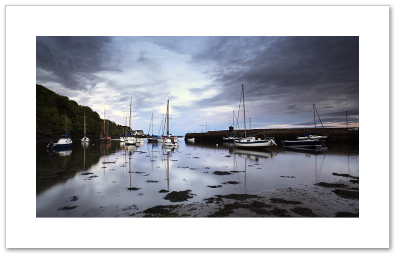 Gloaming light, Aberdour Boat Club, Fife