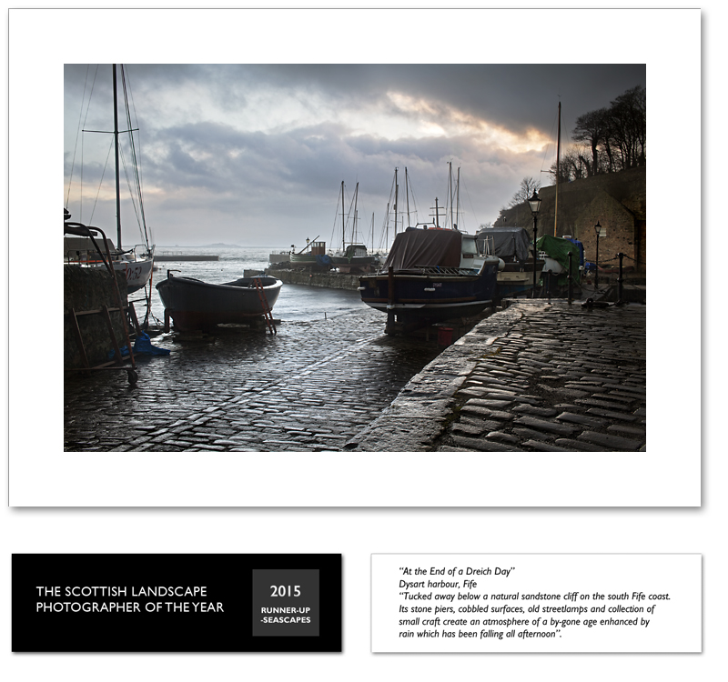 At the end of a dreich day, Dysart Harbour, Fife