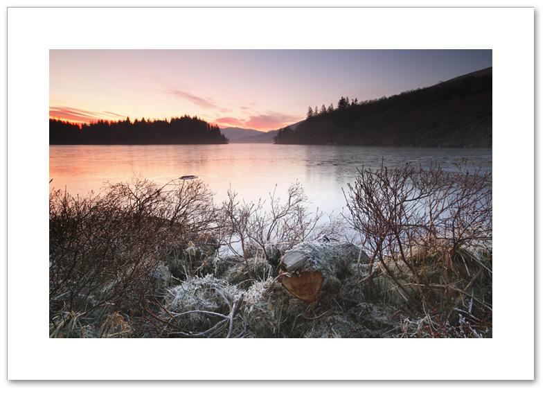 Frost, Loch Ard, Loch Ard Forest, Loch Lomond and the Trossachs National Park