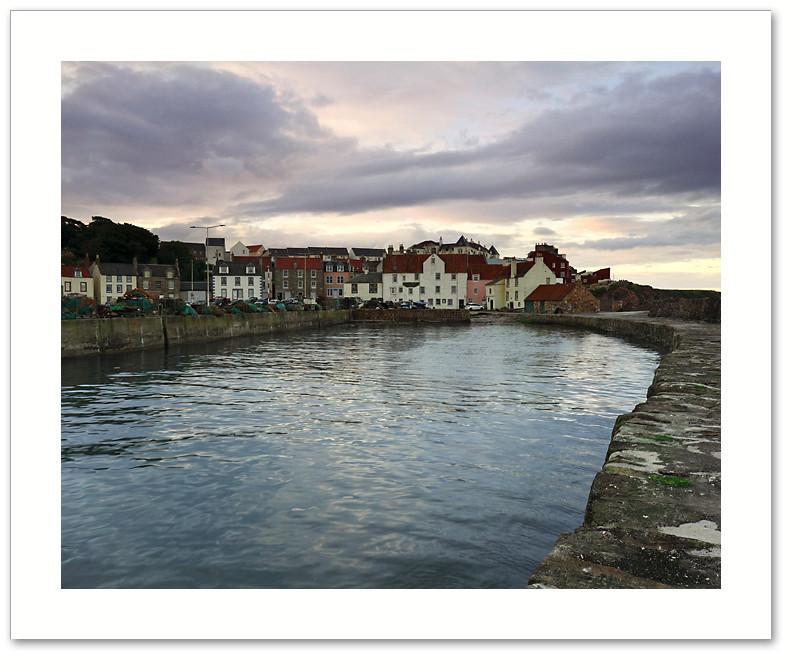High tide at sundown, Pittenweem, East Neuk, Fife