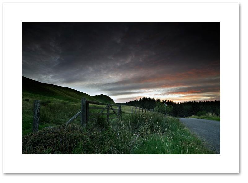 Dummiefarline after sunset, Cleish Hills