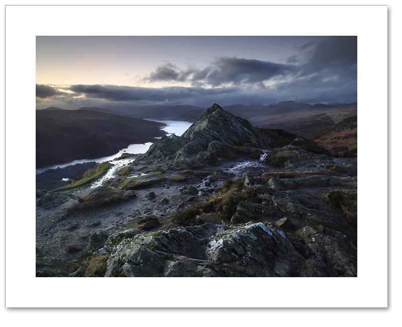Darkness falls across Ben A'an, Loch Lomond and the Trossachs, National Park
