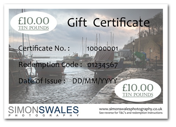 £10.00 Gift Certificate