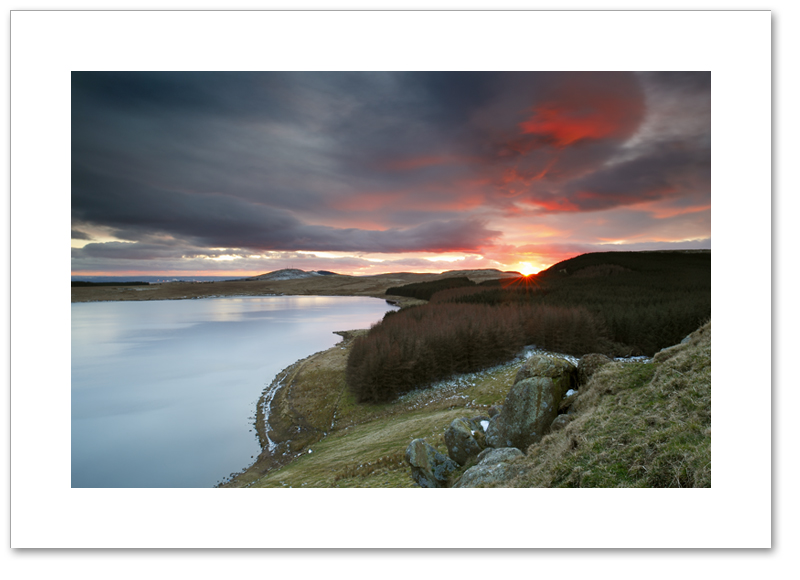 Dramatic sunset, Cleish Hills, Perthshire