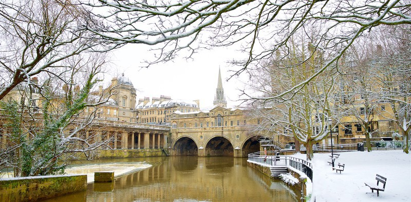 Winter, Pulteney Bridge, Bath. EDC301 - Bath