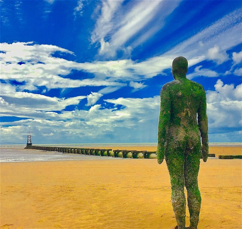 'Another Place', Antony Gormley, Liverpool  EDC281  only available as - England