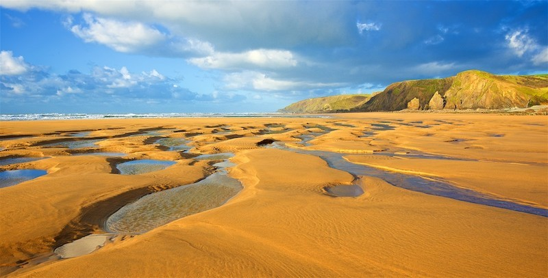 Sandymouth Beach near Bude - evening light EDC239 - Cornwall