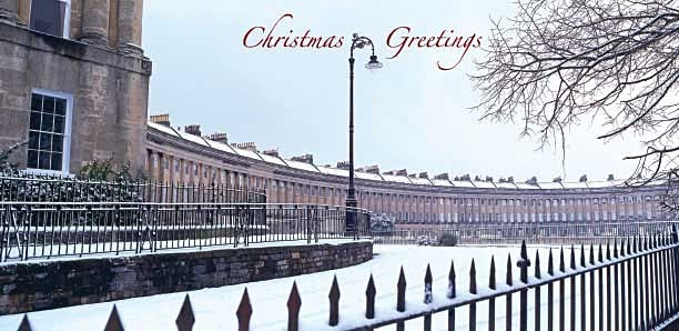 Royal Crescent, Bath - Christmas Card - Christmas Greeting Cards