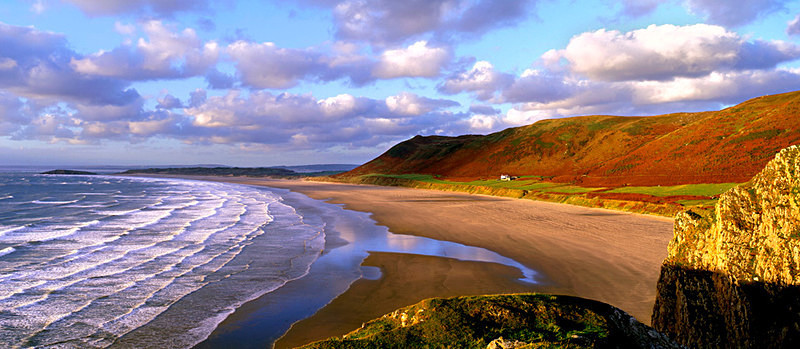 Autumn Evening, Rhossili, Gower Peninsula EDC039 - Wales