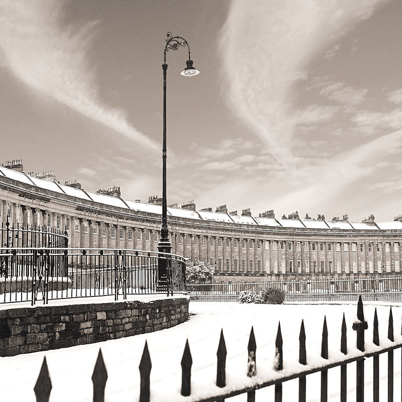 Royal Crescent,Bath - Sepia EDC132 - Bath