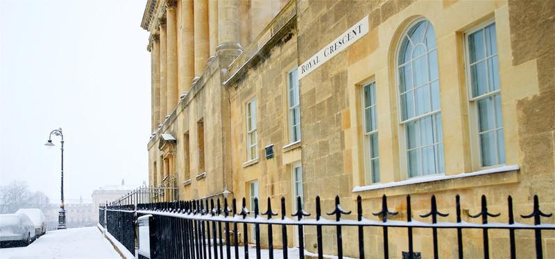 Winter, No.1 Royal Crescent, Bath. EDC 298 - Bath
