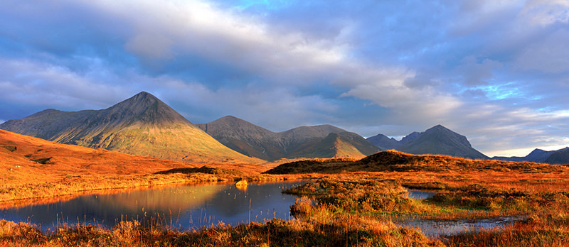 Autumn Light, Red Cuillins, Isle of Skye EDC087 - Scotland