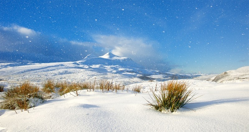 Sunshine and snow showers, Scottish Highlands - Scotland