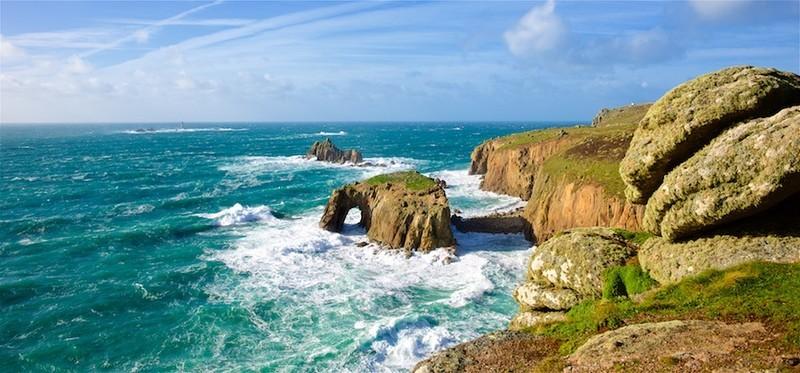 Stormy seas Lands End Cornwall EDC267 - Cornwall