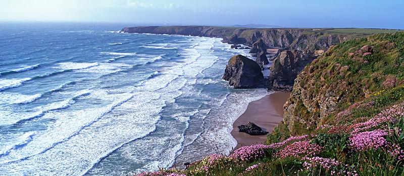 Waves at Bedruthan Steps, North Cornwall EDC101 - Cornwall