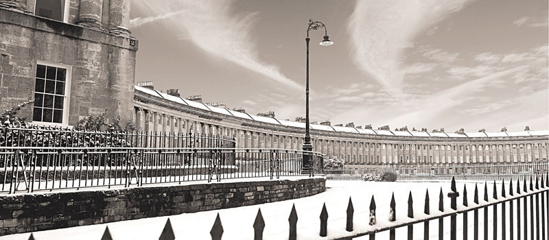 Royal Crescent,Bath - panoramic- sepia EDC284 - Bath