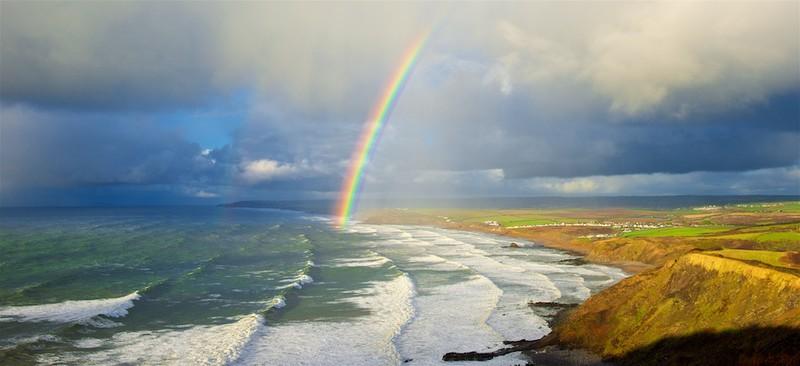 Sunshine & showers, Widemouth, Bude Bay, North Cornwall EDC263 - Cornwall