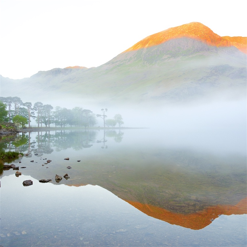 Sunrise, Mists and Reflections, Buttermere. EDC271 - Lake District