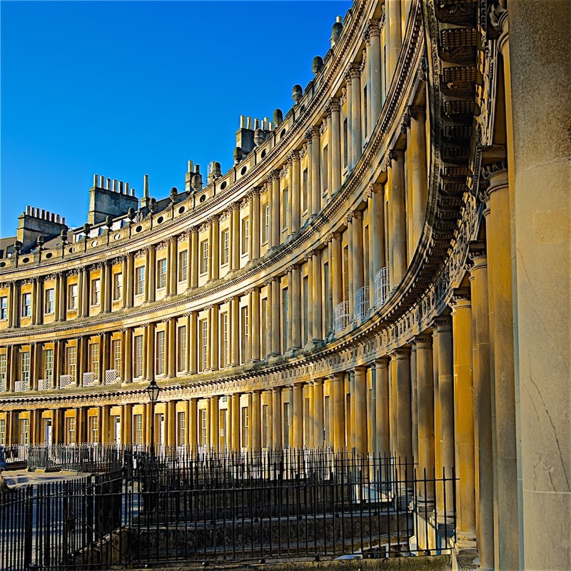 Circus in  sunshine, Bath EDC232  only available as a greeting card - Bath