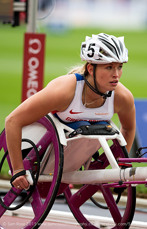 Samantha Kinghorn (GBR) Women T54 (5th) - London Anniversary Games IPC Paralympics day 2015
