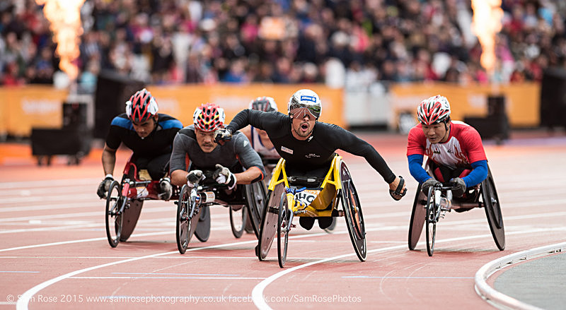 Marcel Hug (SUI) and friends - London Anniversary Games IPC Paralympics day 2015