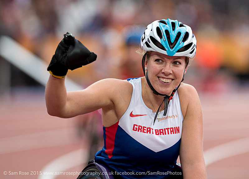 Hannah Cockroft (GBR) - London Anniversary Games IPC Paralympics day 2015