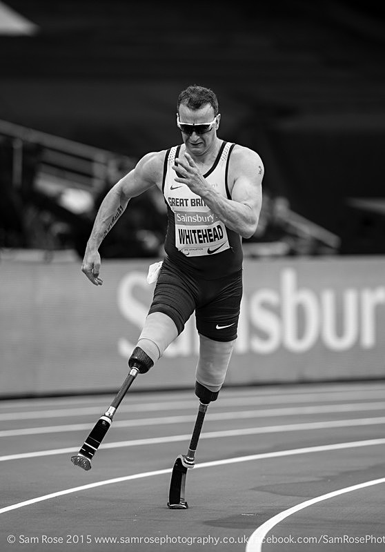 Richard Whitehead (GBR) 200m Men — T42, Gold Medal - London Anniversary Games IPC Paralympics day 2015