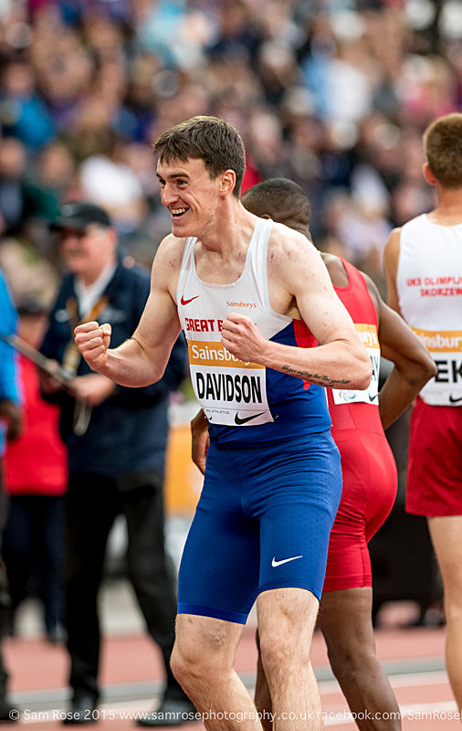 Paul Davidson (GBR) 400m Men T20 - Bronze medal - London Anniversary Games IPC Paralympics day 2015