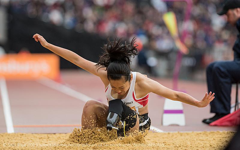 Saki Takakuwa (JPN) Long Jump Women — T42 & T44, 3rd place - London Anniversary Games IPC Paralympics day 2015