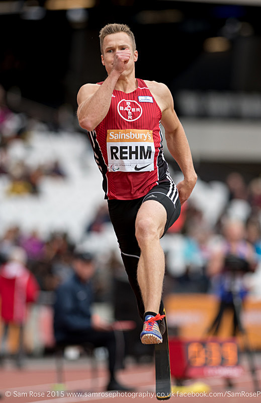 Markus Rehm (GER) Long Jump Men — T42 & T44 - Gold Medal - London Anniversary Games IPC Paralympics day 2015