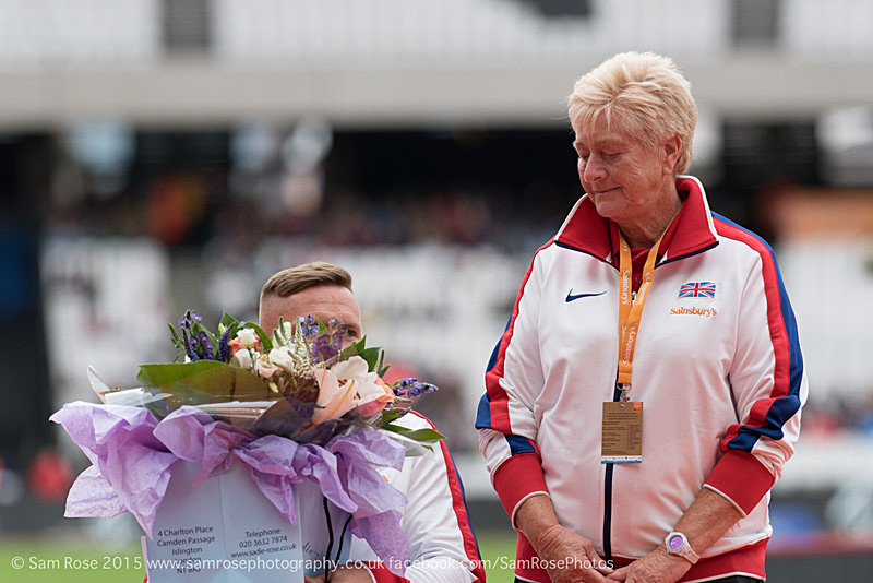David Wier and Jenny Archer - London Anniversary Games IPC Paralympics day 2015