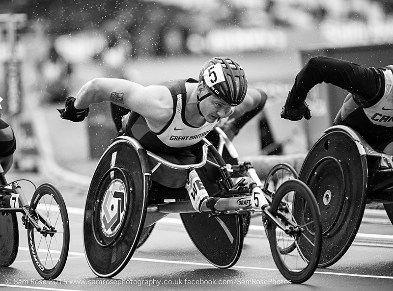 David Wier (GBR - 5th) Men's' T54 1500m - London Anniversary Games IPC Paralympics day 2015