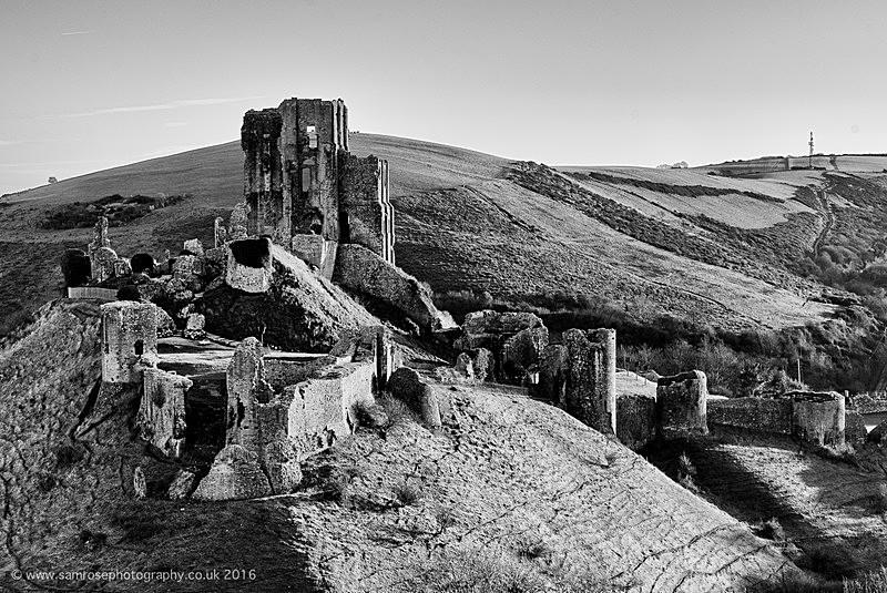 Corfe Castle in winter - Dorset Photos