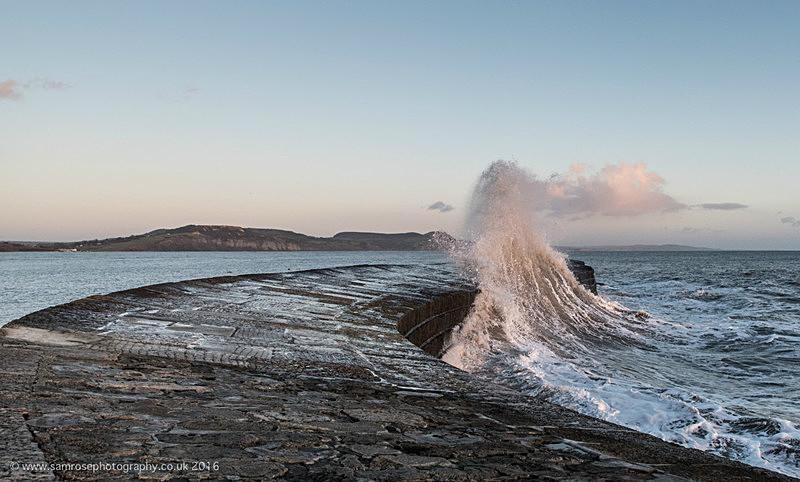 Storm on the Cobb 2 - Dorset Photos