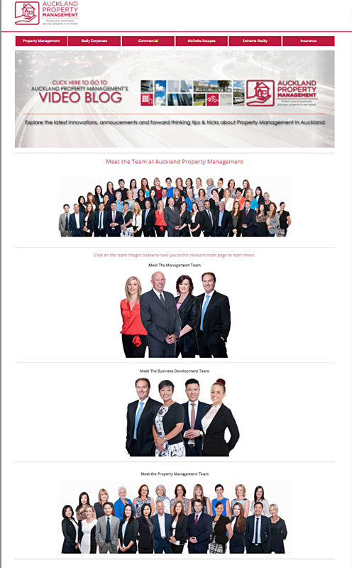 Auckland Property Management 40+ staff white background - Corporate/Self Promotion/Headshots