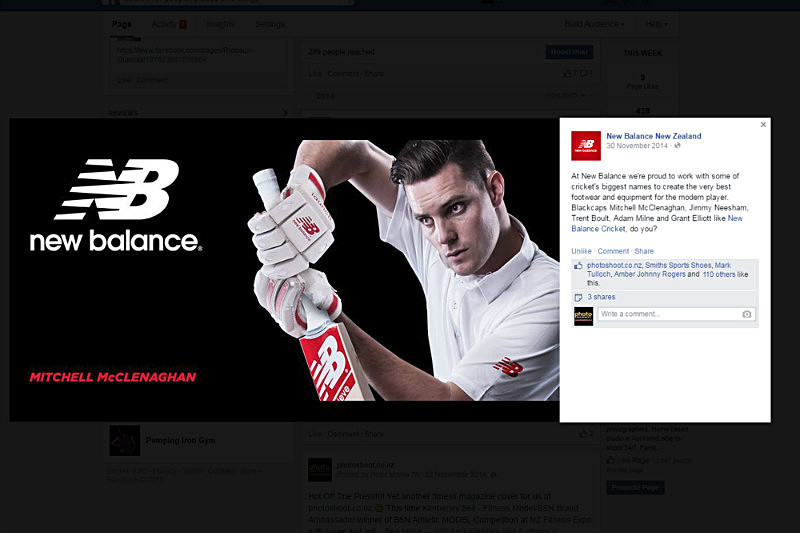 Black Cap Mitchell McClenaghan Shot For New Balance New Zealand - Product Photography