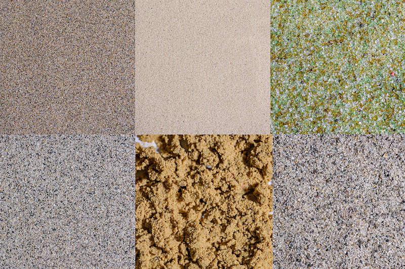 Sand And Aggregates - Product Photography