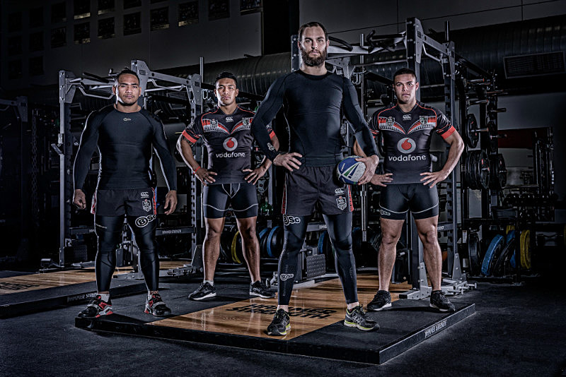 Apparel Shot On Location - Auckland Warriors For Body Science NZ - Product Photography