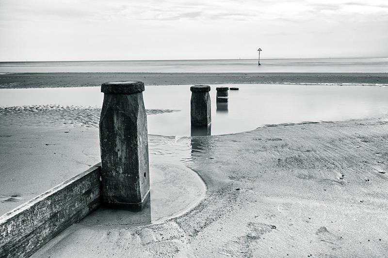 West Wittering - Seascape - Monochrome