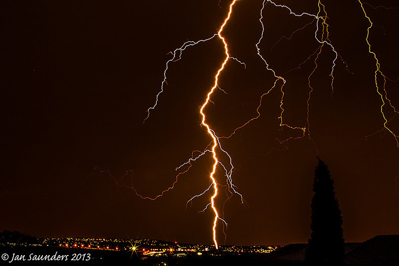 Light trails and traffic trails 2 - Lightning Strikes