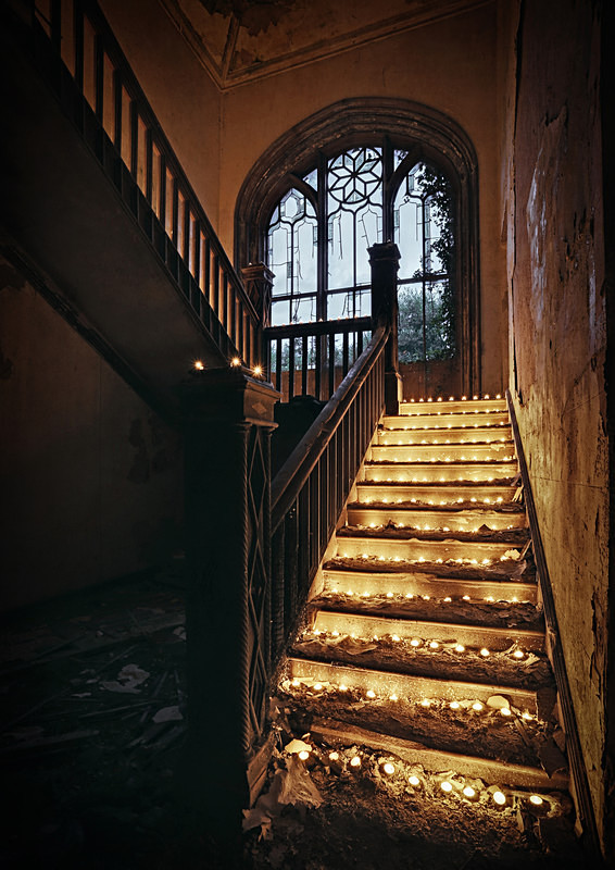 Candlelight Stairs - 'Abandoned Ireland'