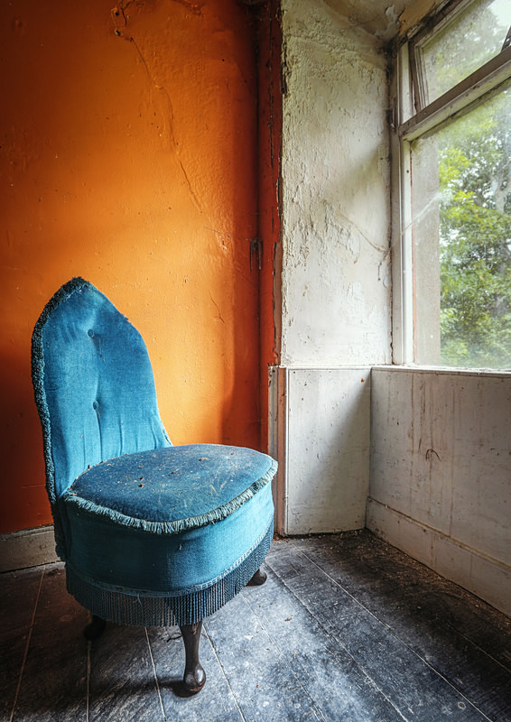 Orange Room & a Blue Chair - 'Abandoned Ireland'